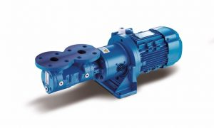 KFT / LFT Screw pump with overhead DIN flanges